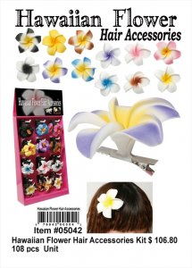 Wholesale Hawaiian Flower Hair Accessories