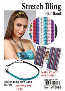 Stretch Bling Hair Bands NOW ON CLEARANCE