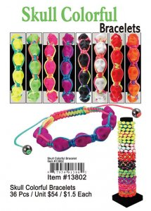 Skull Colorful Bracelets NOW ON CLEARANCE