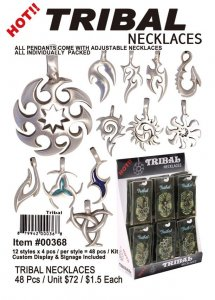 Tribal Pewter Necklaces Wholesale