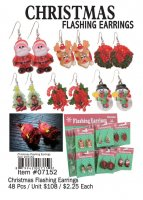 Christmas Flashing Earrings Wholesale