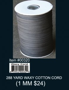 Wholesale 288 Yard Waxy Cotton Cord (1 MM)