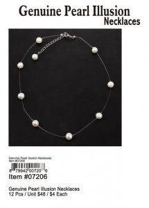 Genuine Pearl Illusion Necklaces Wholesale