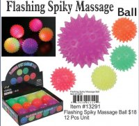 Wholesale Flashing Spiky Massage Ball