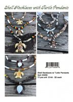 Shell Necklaces withTurtle Pendants