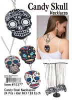 Candy Skull Necklaces Wholesale
