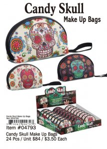 Candy Skull Make Up Bags Wholesale