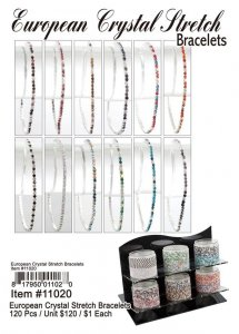 European Crystal Stretch Bracelets Wholesale