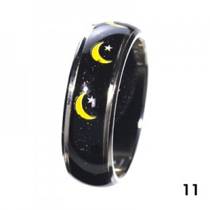 Wholesale Mood Rings - Style 11 - Moon