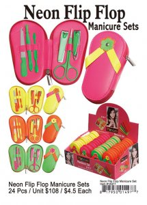 Neon Flip Flop Manicure Sets Wholesale