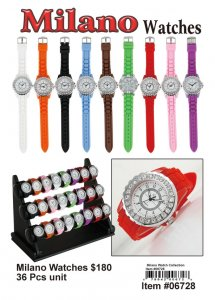 Wholesale Milano Watches 36 pcs with Display