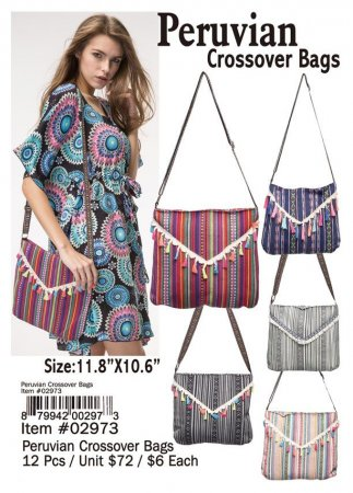Peruvian Crossover Bags Wholesale