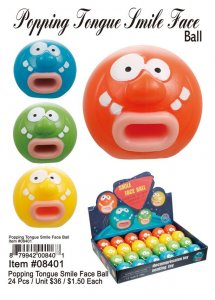 Popping Tounge Smile Face Ball Wholesale
