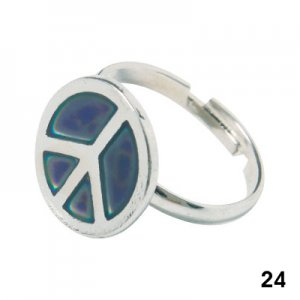 Wholesale Mood Rings - Style 24 - Peace Seal