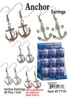 Anchor Earrings Wholesale