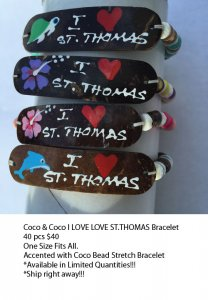 St Thomas Coco Bracelets Wholesale