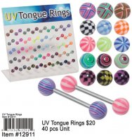 Wholesale UV Toungue Rings
