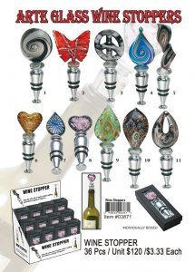 Wholesale Murano Glass Wine Stoppers Kit
