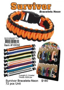 Wholesale Survivor Bracelets Neon