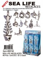 Sea Life Pewter Necklaces Wholesale