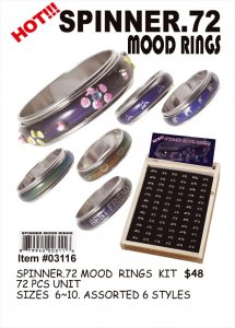 Mood Rings Spinner Wholesale