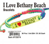 Wholesale I Love Bethany Beach Bracelets