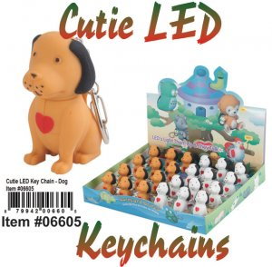 Wholesale Cuties Led Key chains DOG