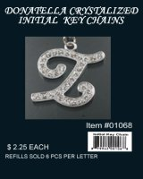 Wholesale Donatella KeyChain Pack Z (6 Pcs Pack)