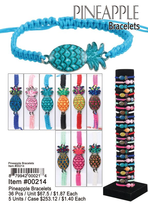 Pineapple Bracelets - 36 Pieces Unit