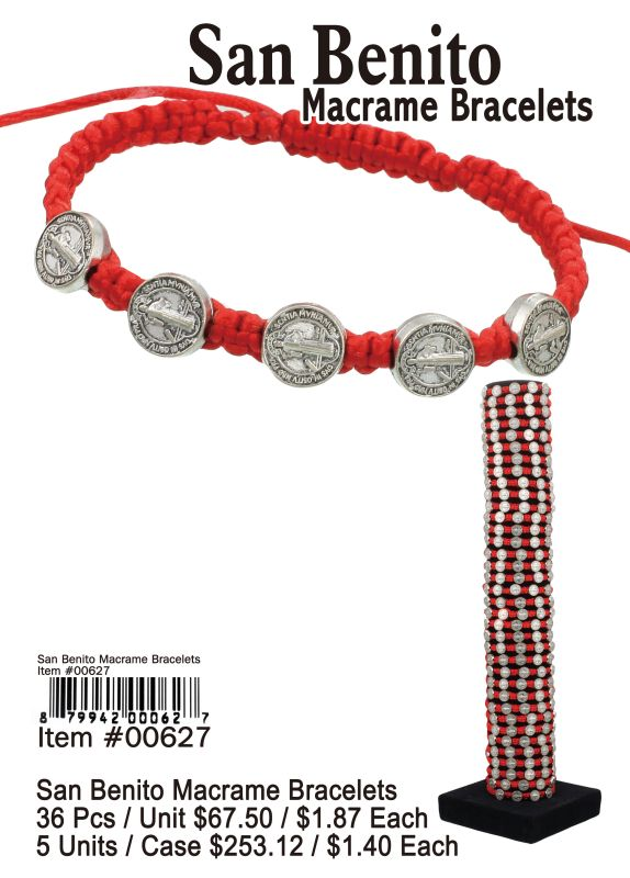 San Benito Macrame Bracelets - 36 Pieces Unit