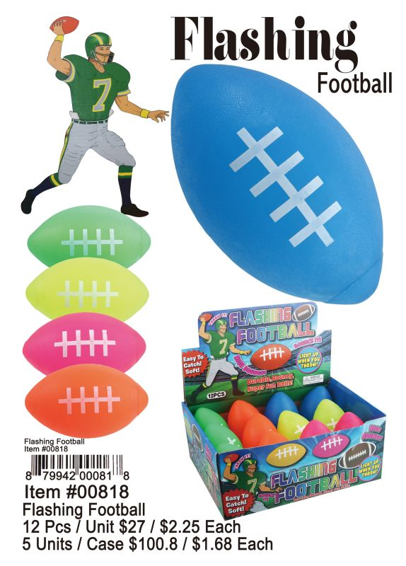 Flashing Football - 12 Pieces Unit