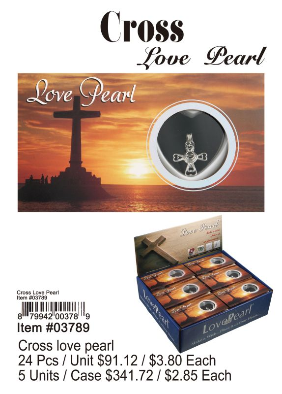 Cross Love Pearl - 24 Pieces Unit