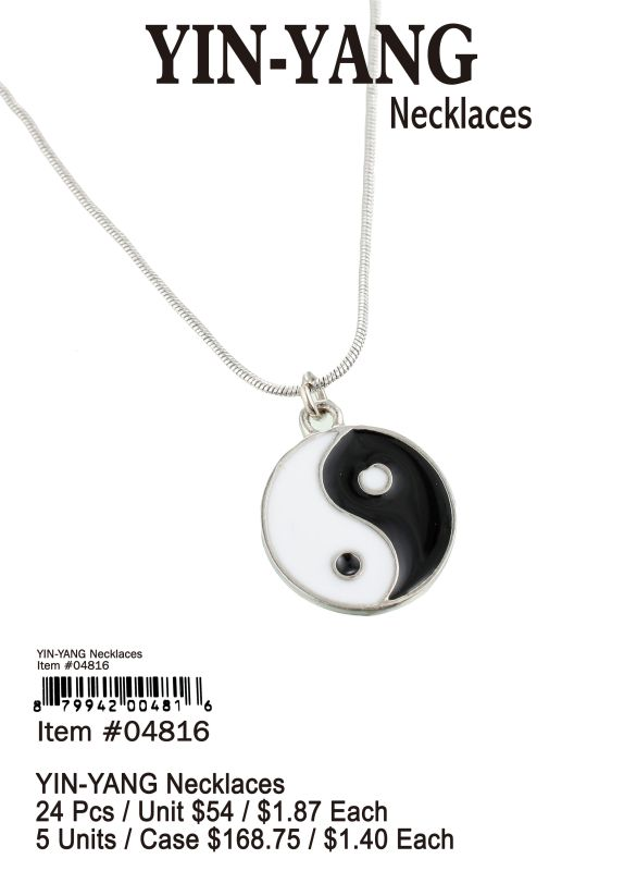 Yin-Yang Necklaces - 24 Pieces Unit