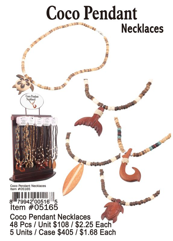 Coco Pendant Necklaces - 48 Pieces Unit