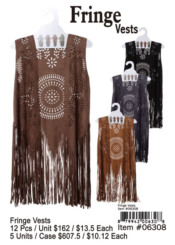 Fringe Vests - 12 Pieces Unit