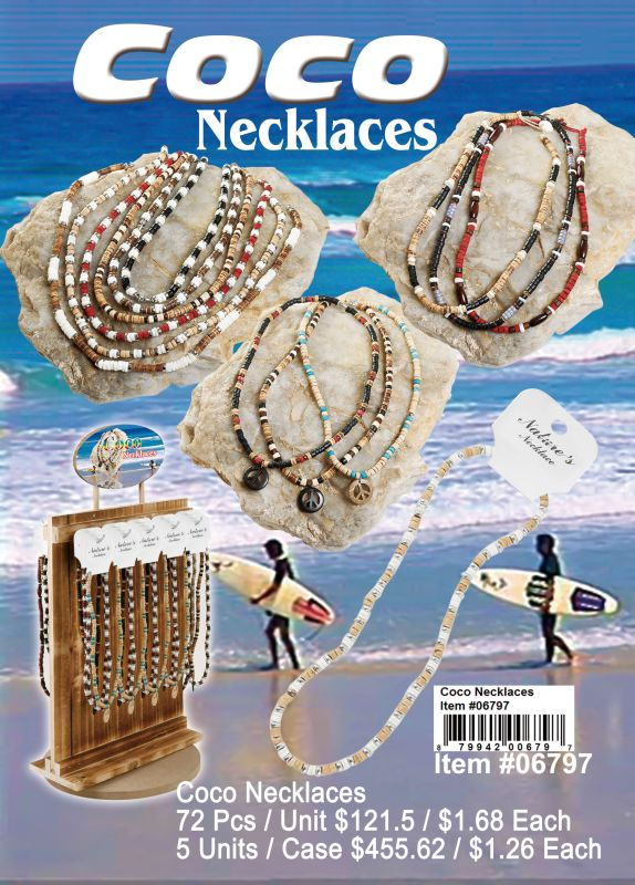 Coco Necklaces - 72 Pieces Unit