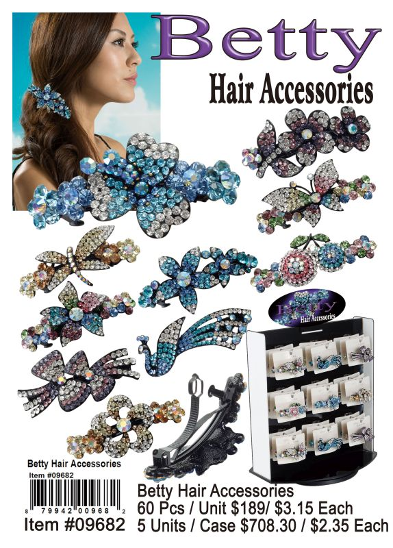 Betty Hair Accessories - 60 Pieces Unit