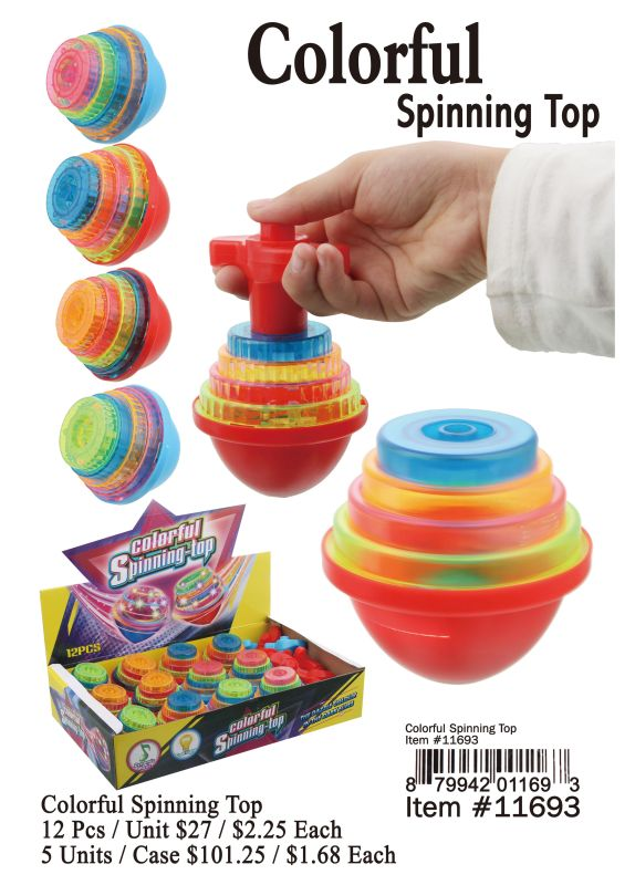 Colorful Spinning Top - 12 Pieces Unit