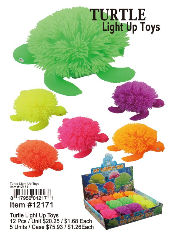 Turtle Light Up Toys - 12 Pieces Unit