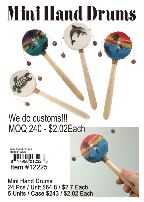 Mini Hand Drums - 24 Pieces Unit