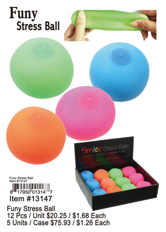 Funy Stress Ball - 12 Pieces Unit