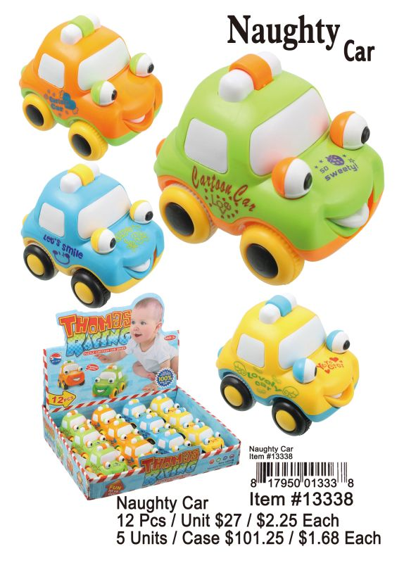 Naughty Car - 12 Pieces Unit