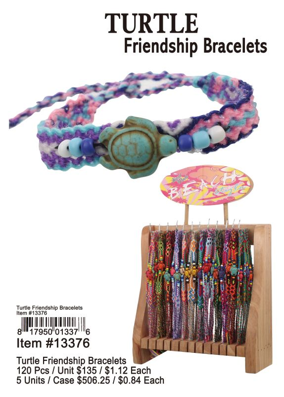 Turtle Friendship Braelets - 120 Pieces Unit