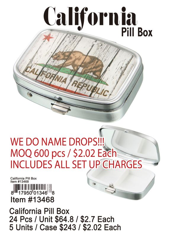 California Pill Box - 24 Pieces Unit