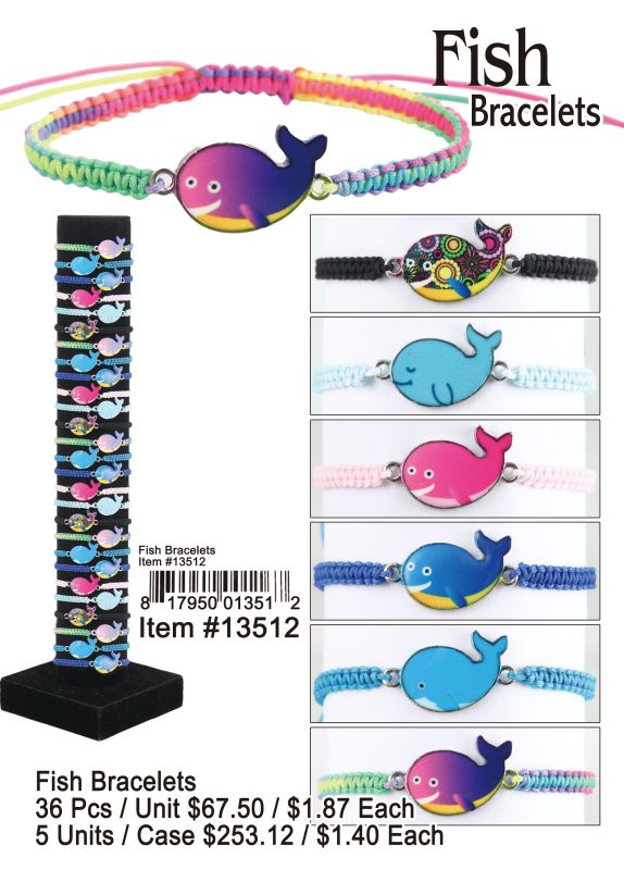 Fish Bracelets - 36 Pieces Unit