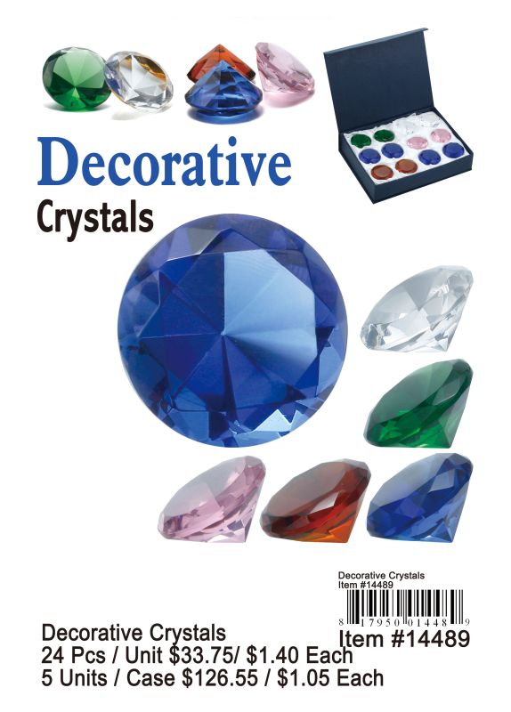 Decorative Crystals - 24 Pieces Unit