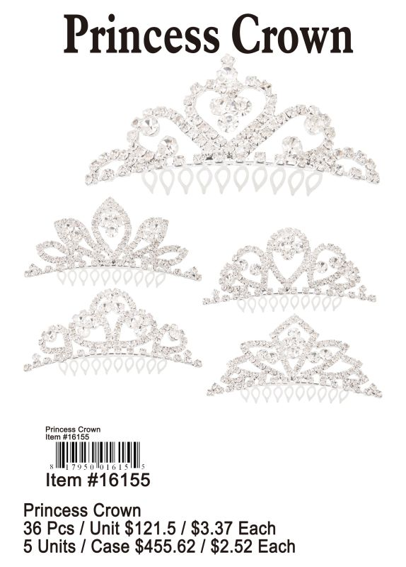 Princess Crown - 36 Pieces Unit