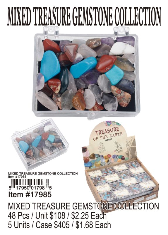 Mixed Treasure Gemstone Collection - 48 Pieces Unit