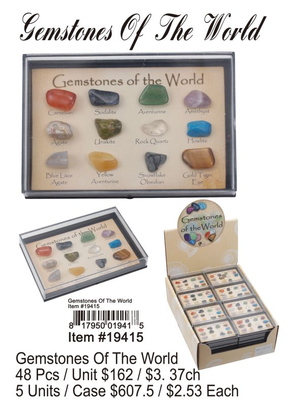 Gemstones Os The World - 48 Pieces Unit