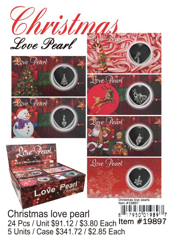 Christmas Love Pearl - 24 Pieces Unit